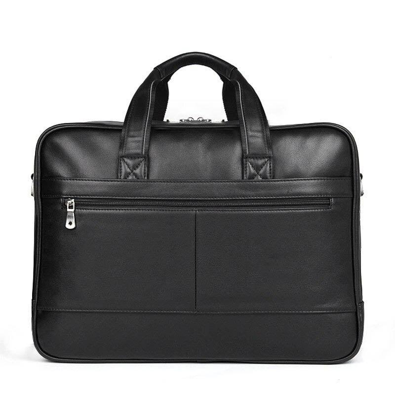 Sac à main pour hommes en cuir véritable porte-documents décontracté sac de voyage pour hommes sac de messager en cuir sac à bandoulière pour ordinateur portable