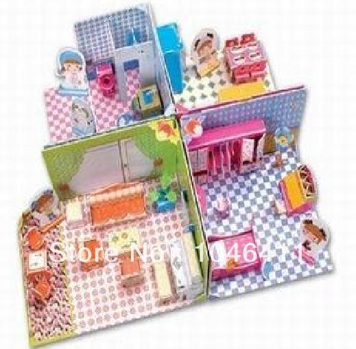 4 шт. Девушка установить CubicFun 3D образовательные головоломка Бумаги и EPS Модель Бумажного Главная Украшение для подарка рождества