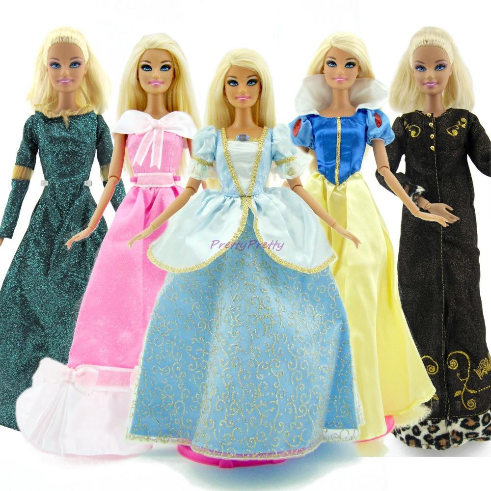 A Lot =10 Pcs Random Fairy Tale Princess Dress Wedding Party Girl ...