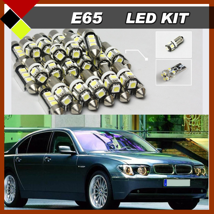 Car Interior Cosmetic Mirror Dome Map Trunk Glove Box Lights For BMW 7 Series E65 E66 2003-2008 LED Kit Canbus White Lamps