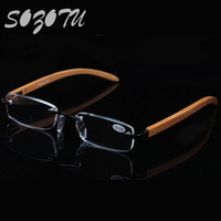 SOZOTU Reading Glasses Men Women Slim Diopter Wooden Frame Prescription Presbyopic Eyeglasses 1 0 1 5
