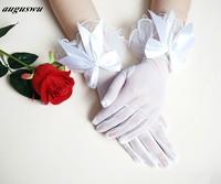 New Wrist Wedding Gloves White Lace Elegant Bride Gloves For Weddings Long Design Lucy Refers To