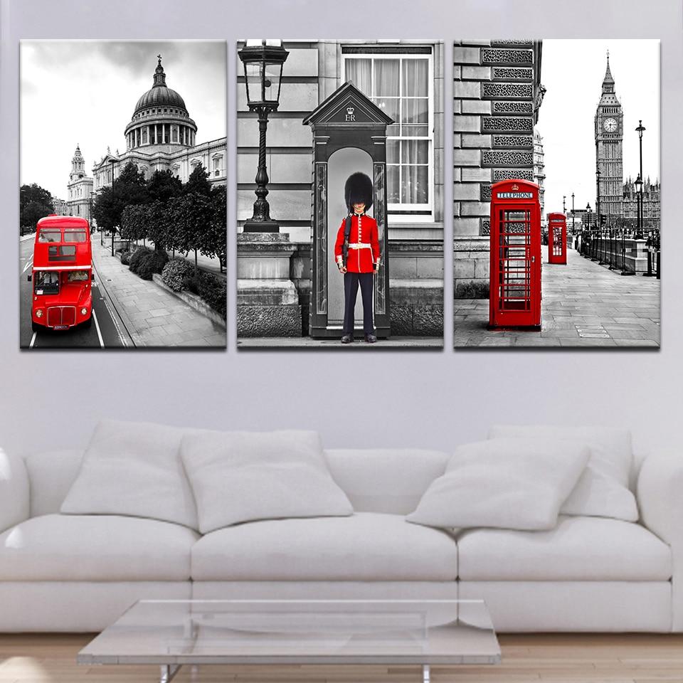 Art Painting 3 Pieces Modular London Street View High