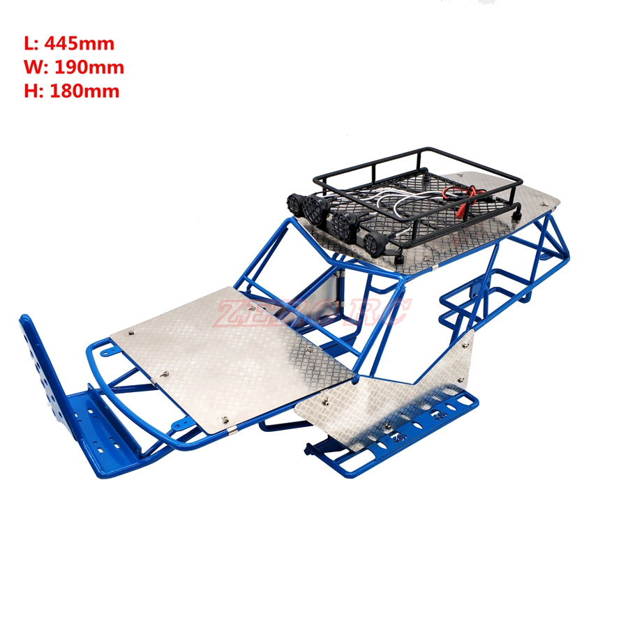 1 10 SCALE RC AXIAL WRAITH METAL ROLL CAGE FRAME BODY WITH ROOF RACK AND METAL