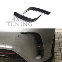 For Mercedes W176 A250 A260 A45 AMG 2012 2013 2014 2015 Carbon Fiber Rear Bumper Splitter