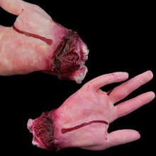 1Pc Lifesize Bloody Haunted Hand Event Party Supplies Decoration Scary Halloween Horror Prop fare body shocker D14034