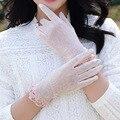 Temporada Primavera verano de moda de las mujeres de seda del Hielo guantes UV resistente guantes de conducción femenina consulte transpirable guantes de la pantalla táctil
