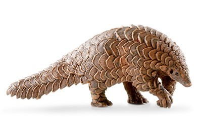 Original Genuine Wild Animal Mammal Pangolin Figures Collectible Figurine Kids Educational Toys Children