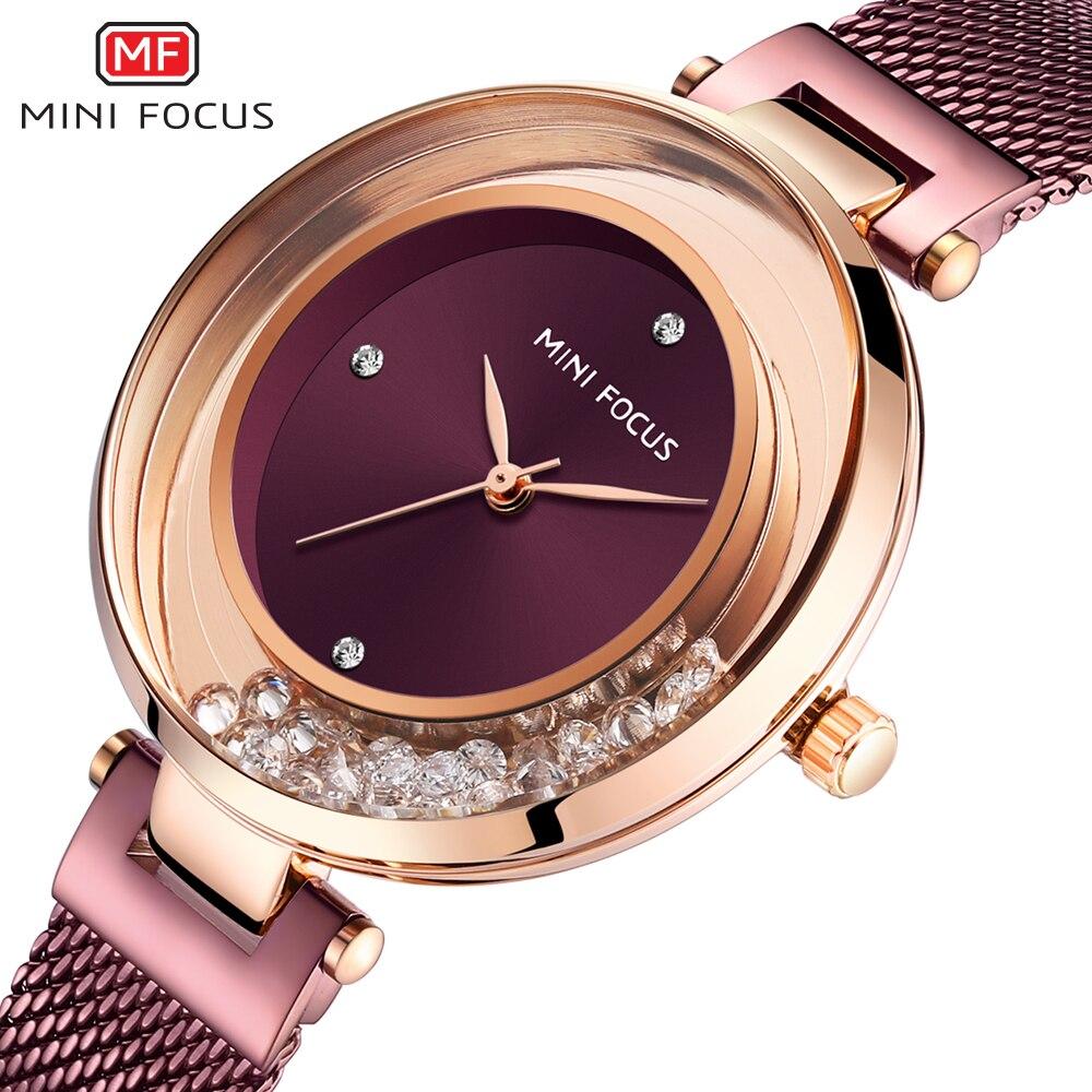 Ladies Watch MINIFOCUS Watches Women Quartz Lady Wrist Watch Dress Women's  Wristwatch Brand Luxury Fashion Relogio Feminino