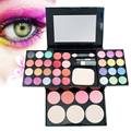 2016 Pertty colorful Pro Warm Colors Matte Shimmer Eyeshadow Palette Makeup Kit Set + Brush Mirror M2