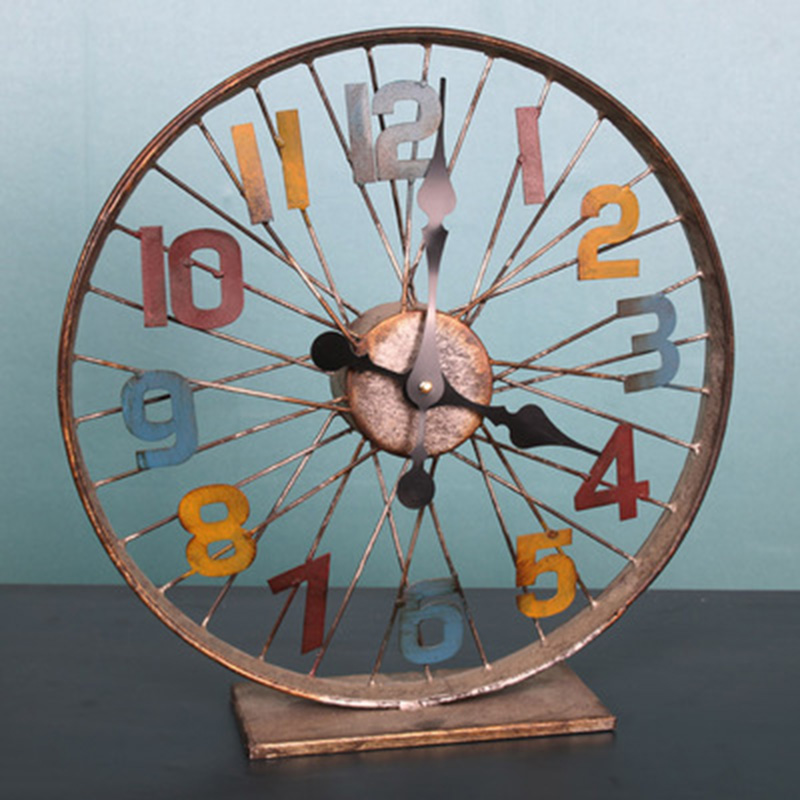 American Retro Industrial Wind Iron Gear Mural Wall Decoration Lager Wall Clock Hangings Bar loft Watch Home Decor 95*70*3 cm