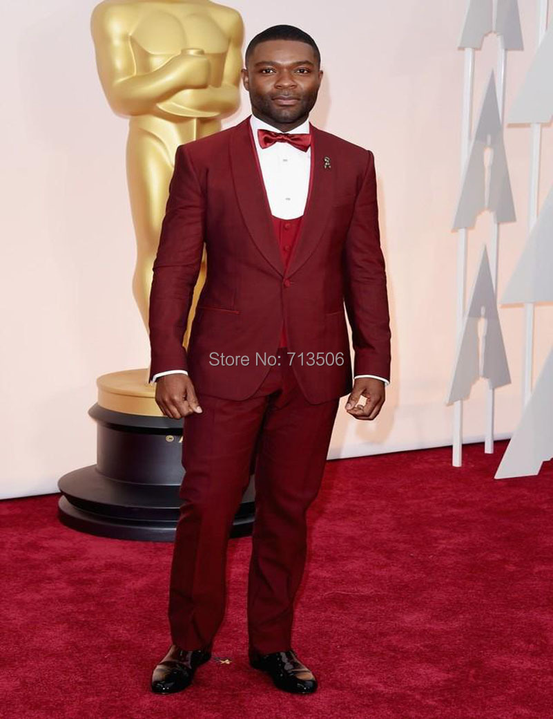 Oscar Cheap Groom Tuxedos Burgundy Best Man Suit Formal Evening ...