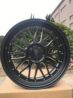 19 INCH MATTE BLACK LM STYLE STAGGERED WHEELS RIMS W882
