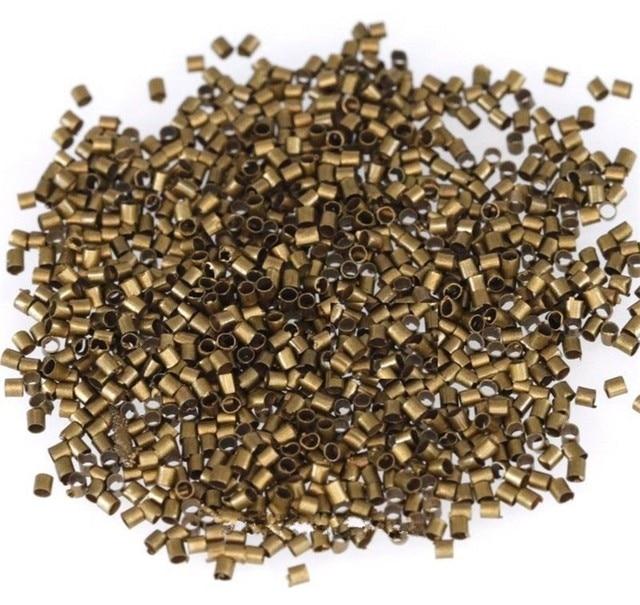 1000 pièces Tube métallique sertissage fin perles résultats argent en gros 1.5mm 2mm pour la fabrication de bijoux
