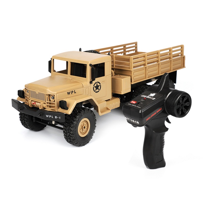 Remote Control Truck WPL 1:16 2.4G Mini Off-Road RC Military Truck Six-Wheel Drive High Speed Car Truck Toys Gifts for Children