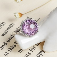 925 silver with natural ametrine ring opening