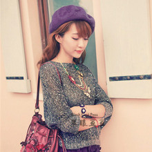 Autumn and winter vintage fashion beret painter cap bucolics hat pure sheep knitted hat