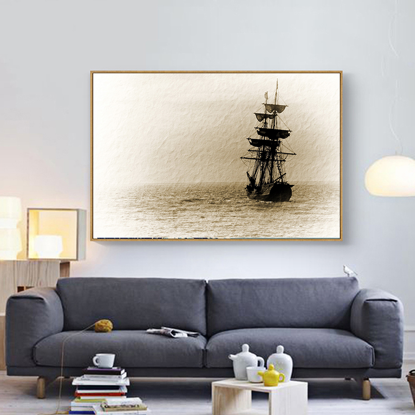 Home Office Decor For Private Impression: Aliexpress.com : Buy Impression Hand Painted Sailboat