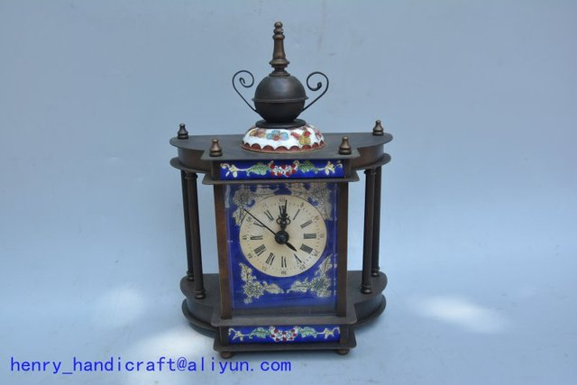 Rare Old Qing Dynasty royal clockmechanical watch, Cloisonne,1886, Western clock,Luxury clocks,can work, Free shipping