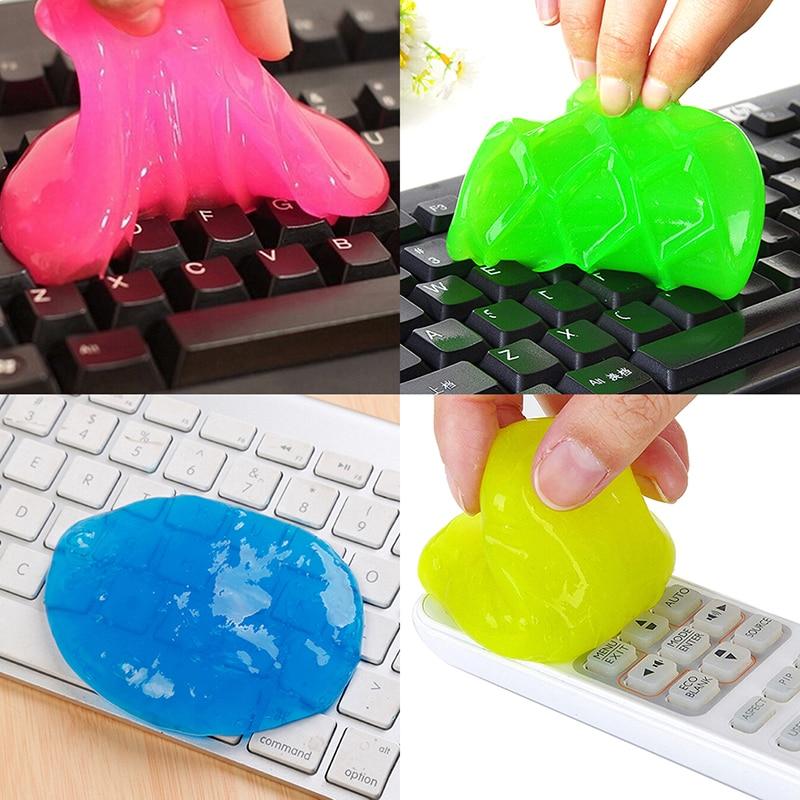 1 Piezas. 4 Colores Están Disponibles Limpiador De Cristal Limpieza De Barro Mágico Polvo Limpiador Gel Slimy Para Teléfono Pc Teclado De Ordenador