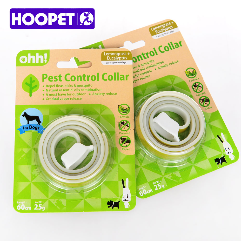 HOOPET Dog Collars With Natural Essential Oils Insecticide Deodorant Pest Lemon Odor Applicable In Large Dogs Safe Non-Toxic image