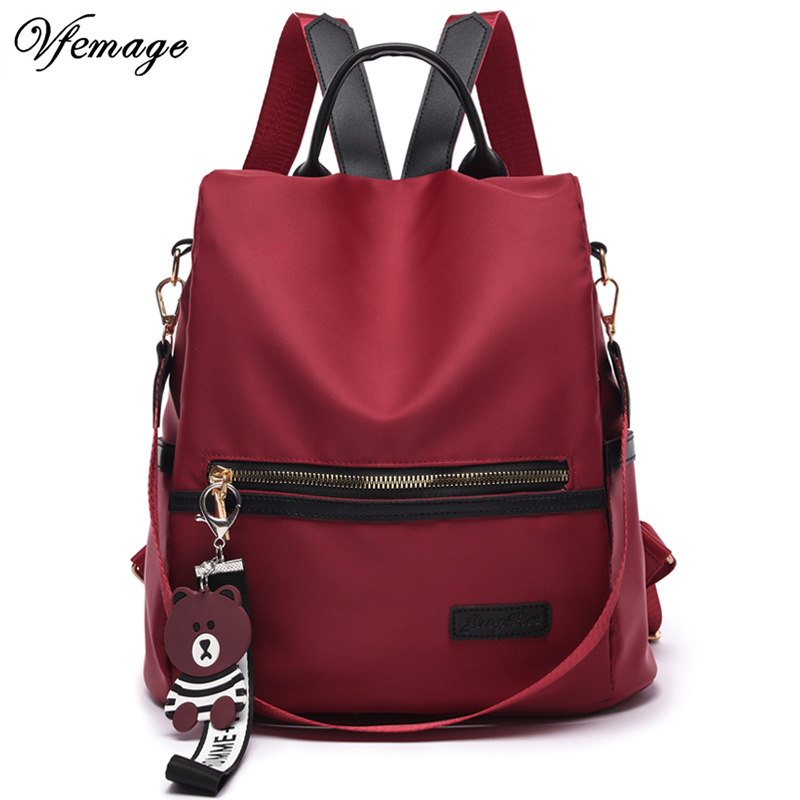 Vfemage Multifunctional Bag Oxford Women Backpack Anti Theft School Backpack For Teenager Girls Sac A Dos Mochila
