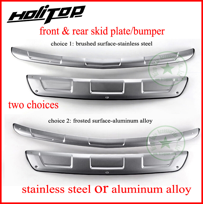 for Chevrolet Trax skid plate bumper protector/guard,front&rear,2pcs/set,stainless steel or aluminum alloy,free shipping to Asia high end 2pcs front or back bumper cover stickers protector guard 3d streamline for mitsubishi asx bumper strip