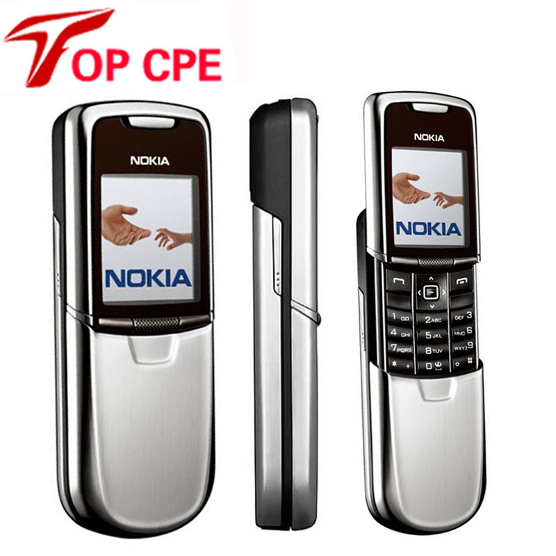 Original Unlocked Nokia 8800 Classic Mobile Phone Bluetooth Russian Arabic English Keybaord GSM Gold Sliver Black