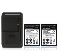 For Samsung Galaxy Mega 6 3 I9200 Repalcement Mobile Cell Phone Battery 2x 3500mAh Battery Wall