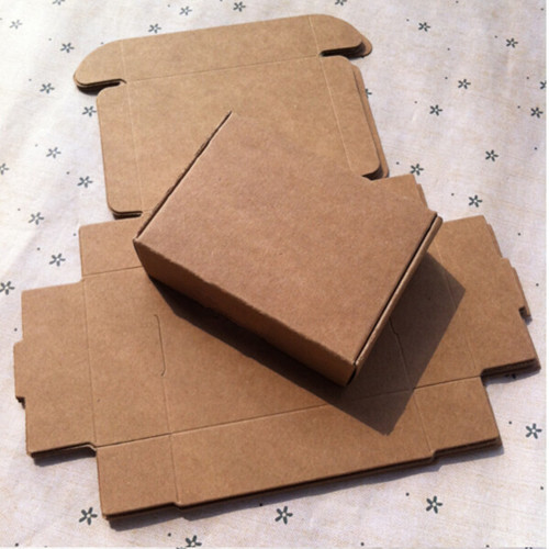 7.5*7.5*3cm Brown Kraft Paper Box Handmade Soap Business Card Gift Favor Party Christmas Cosmetic Chocolate Package Pack Boxes