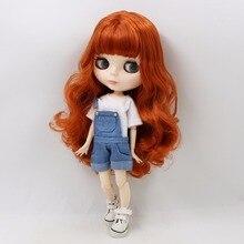 Fábrica Neo Blythe Doll Red Brown cabelo articulado corpo 30cm