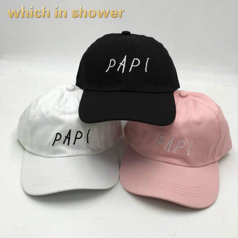 Qui dans la douche femmes hommes PAPI papa chapeau solide couleur coton été casquette de baseball hip hop mâle femelle snapback os soleil en plein air chapeau