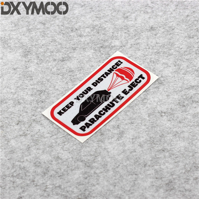 Bici de la motocicleta guitarra etiqueta advertencia mantener su distancia de expulsión estilo de coche de Motocross casco etiqueta