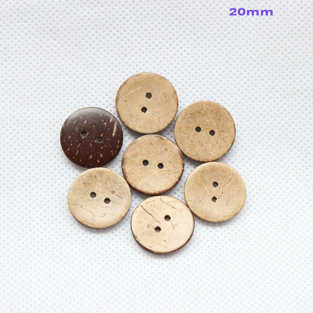 (200/lot) 20mm Personalized plain shell coconut buttons bulk supplies with your own shop ...