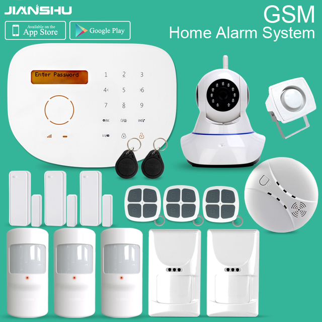 Smart Home Alarm System Support 30 Wireless Zones and 4 Wired Zones ...