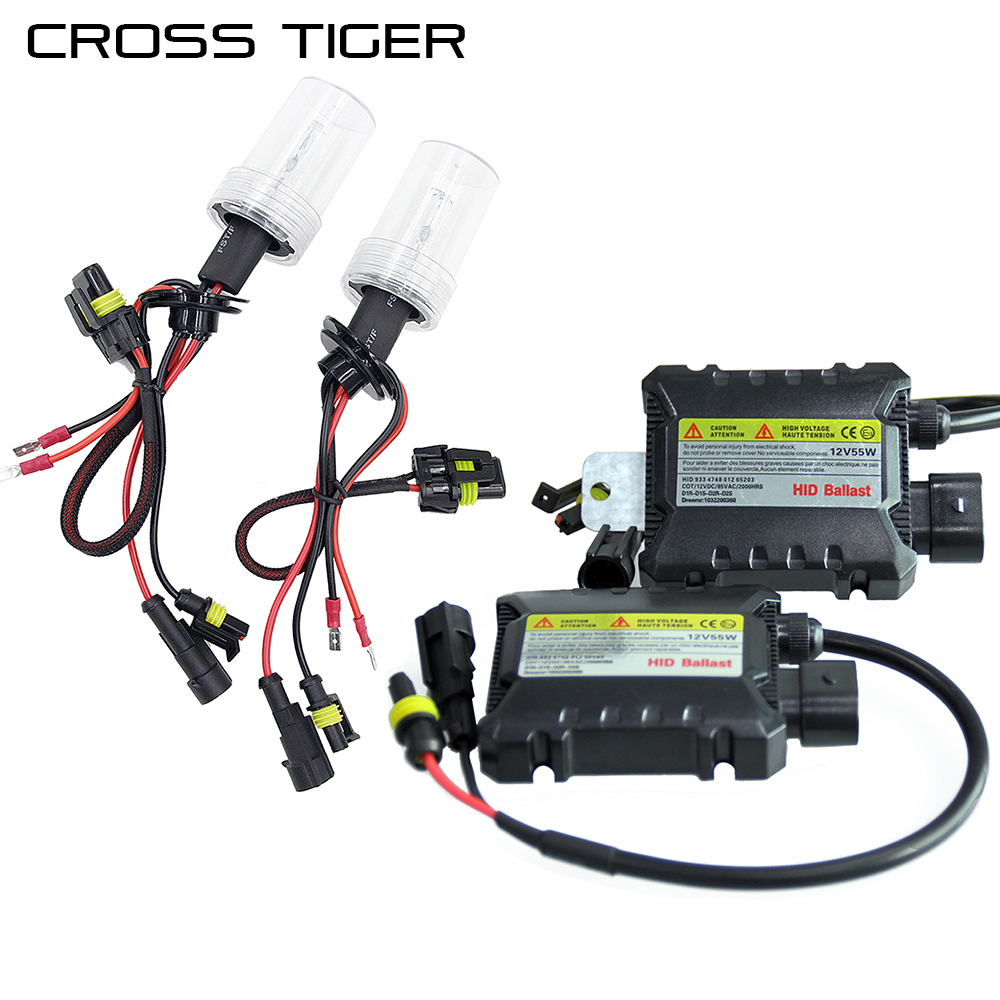 CROSS TIGER 55W Xenon Light Kit Car HID Bulb H1 H3 H4 H7 H8/H9/H11 H13 9004 9005 9006 9007 880/881/H27 Light 12V Auto Lamps ingersoll inja001gdbr