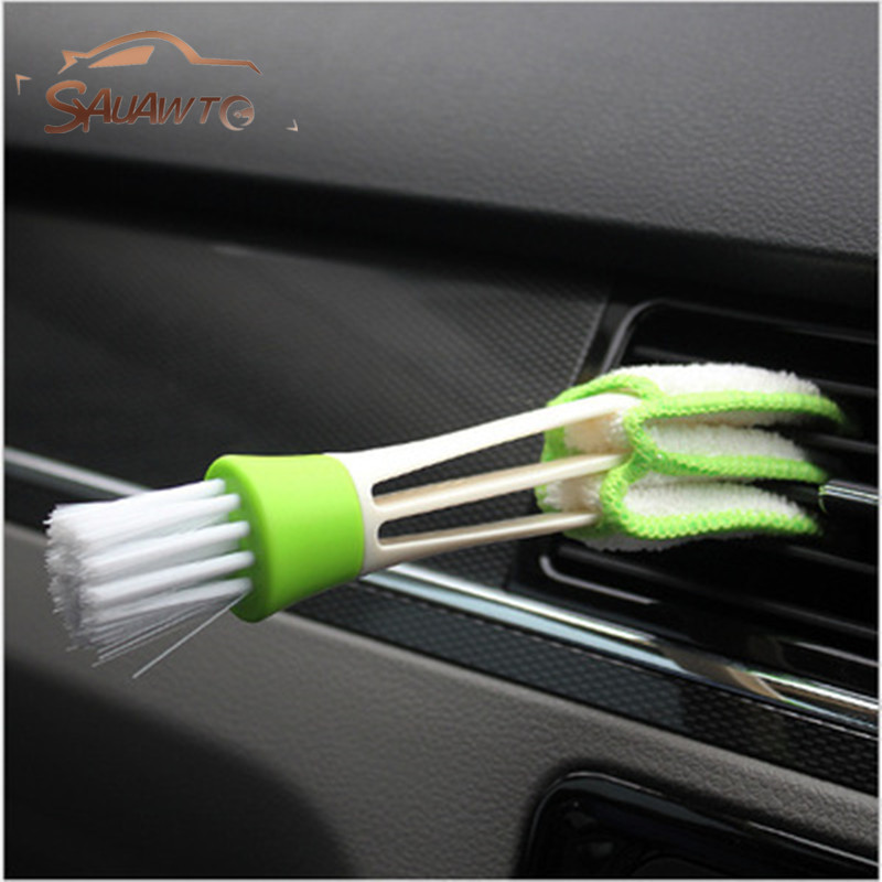 Car Cleaning Double Side Brush For Skoda Fabia 2 1 Rapid Yeti Superb 3 Felicia Citigo RS Tour Octavia 2 A7 A5 A4 Vrs Octvia