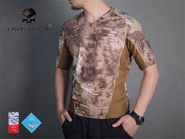 437772073a9f3 Emersongear perspiration Tshirt Skin Tight Base Layer Camo Running Shirts  Breathable Short sleeve HLD EM9167HLD
