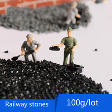 The sand pebbles landscape model train materials of goose river sand foundation of railway ballast river of fire