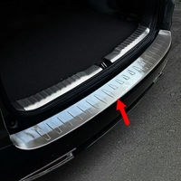 High Quality Car Styling Protect Stainless Steel Rear Bumper Door Sill Plate For 2012 2016 CRV