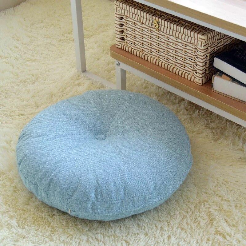Round Padded Large Linen futon Japanese balcony window tatami Home Comfortable cushion