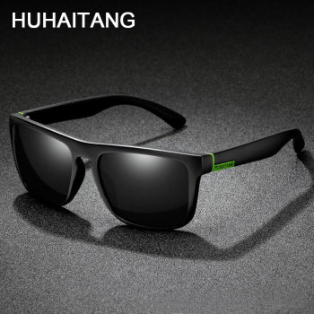HUHAITANG Luxury Square Polarized Sunglasses Men Oversized Pattern Brand Men Sun Glasses For Women Designer Driving Sunglases