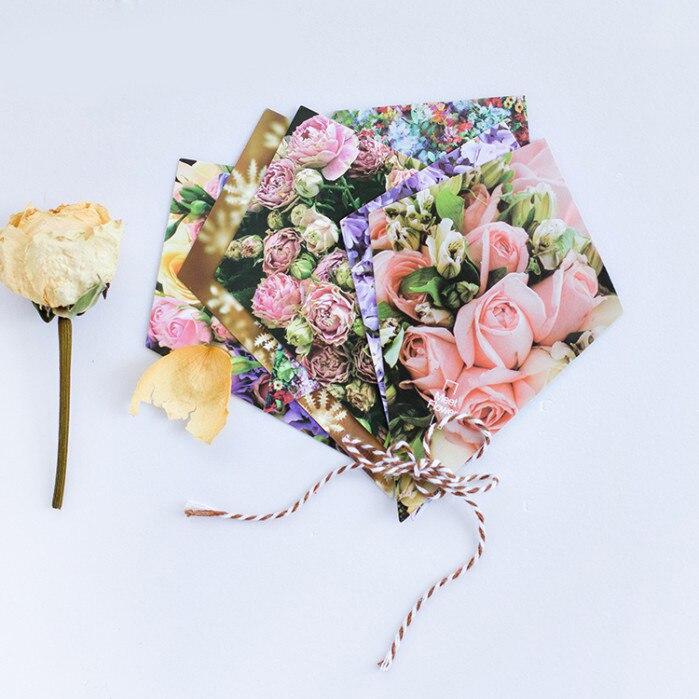 30pcs Send Bouquet Flower Shape Card Multi Use As Scrapbooking Party