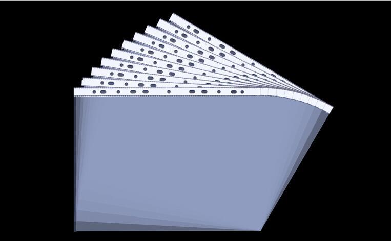 11 Hole A4 100pcs Drilling Data Bag Document Bag Protection Transparent Plastic Inserts Container Leaf Folder Punched Pocket