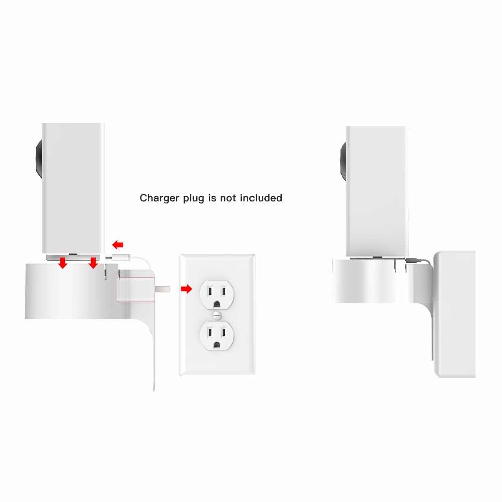360 Degree Swivel AC Outlet Wall Plug Mount Holder Bracket for Wyze Cam Pan  Security Camera without Messy Wires(just a bracket)