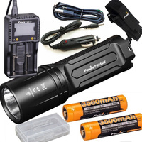 FENIX TK35 UE 2018 3200 Lumen LED USB rechargeable Tactical Flashlight +3500mAh battery,ARE C1+ charger,holster,car charger