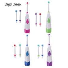 Fry's Store Водонепроницаемая вращающаяся электрическая зубная щетка с 3 насадками для дропшиппинга