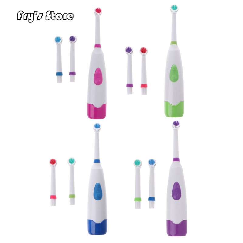 Fry's Store Waterproof Rotating Electric Toothbrush with 3 Brush Head for Dropshipping image