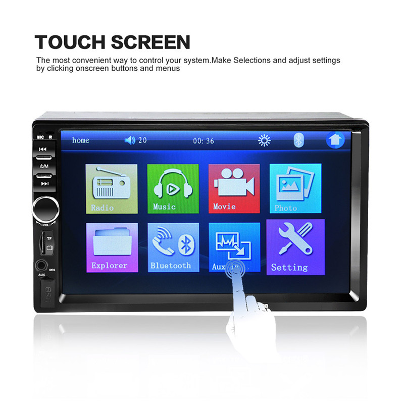 2017 7018B Bluetooth2.0 7 inch 2DIN Car Radio Audio Stereo Player Handsfree TFT Taouch Screen Car MP5 Player TF/SD MMC USB FM
