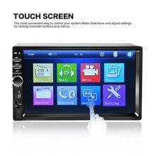 2017 7018B Bluetooth2.0 7 inch 2DIN Coche Reproductor de Radio Audio Estéreo manos libres Pantalla TFT Taouch Coche MP5 Reproductor de TF/SD MMC USB FM
